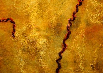 goldorange eingefärbter Schal