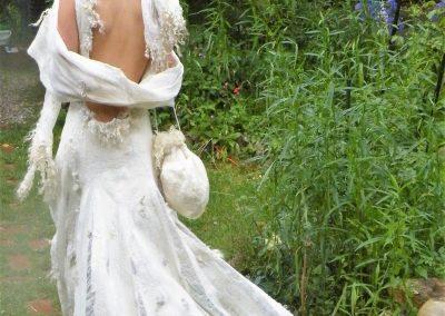 Hochzeitskleid Shanti, Rückenansicht