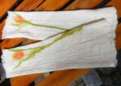 extralange Seiden-Merino-Armstulpen