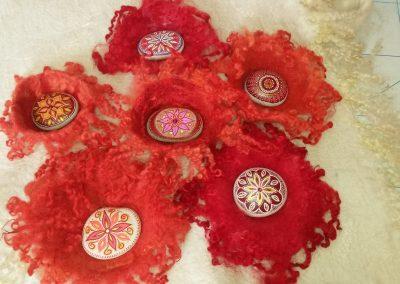 Steingefäße mit Rumi-Steinen von Annelie Tacke (erreichbar über mich)