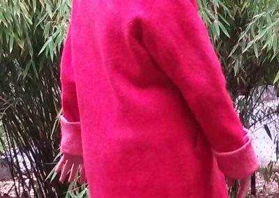 Rückenansicht, des gefärbten Mantels