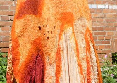 feiner gefärbter Nunifilzrock, mittlere Länge, Grösse 38-44, 199 €